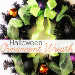 Easy Halloween ornament wreath by Positively Splendid