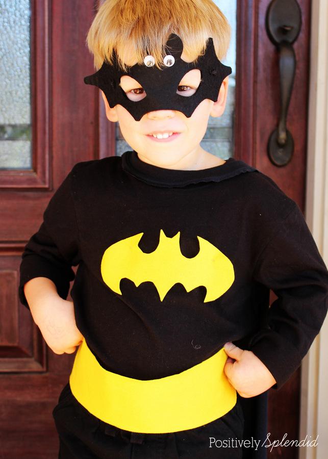 No-sew Batman costume #MichaelsMakers