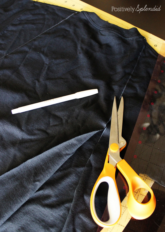 No-sew superhero cape made from a t-shirt. So easy! #MichaelsMakers