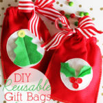 Easy Reusable Felt Gift Bags #MichaelsMakers