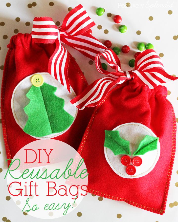 handmade christmas bags