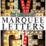 The EASIEST way to make DIY marquee letters! #MichaelsMakers