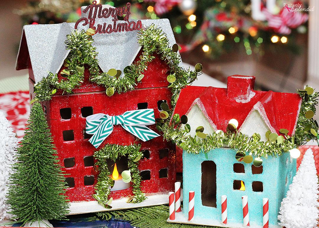 Paper Mache Ideas For Home Decor Diy Miniature Holiday Houses Christmas Decor Craft Idea