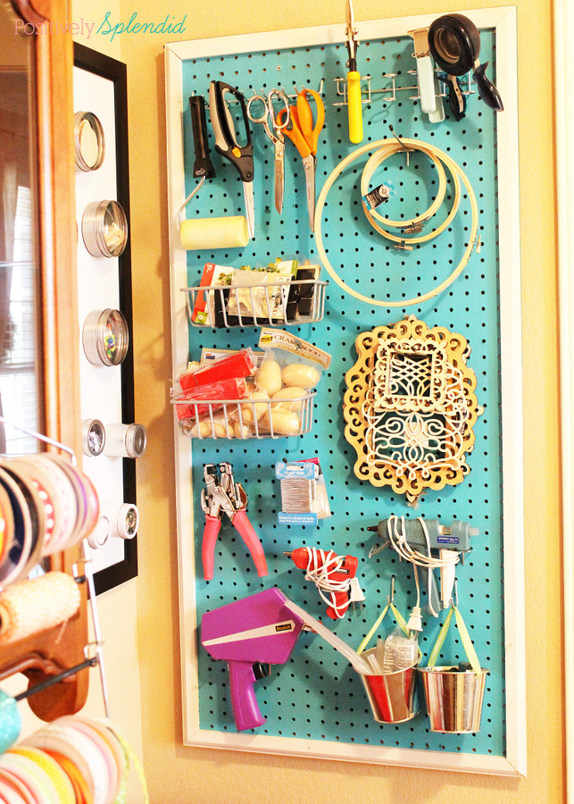 Great craft rooms organization ideas at Positively Splendid. #MichaelsMakers