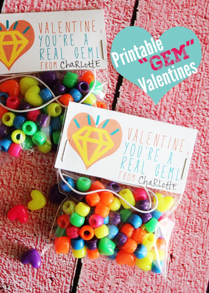 Printable Gem Valentines Title
