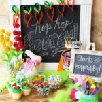 Adorable Easter party for children. So many great ideas! #HersheysEaster