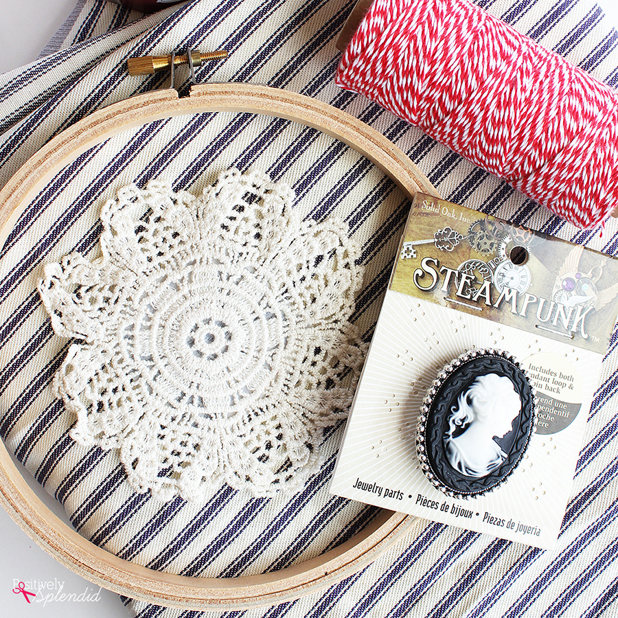 Cameo Embroidery Hoop Art - Such a fun and easy craft project!