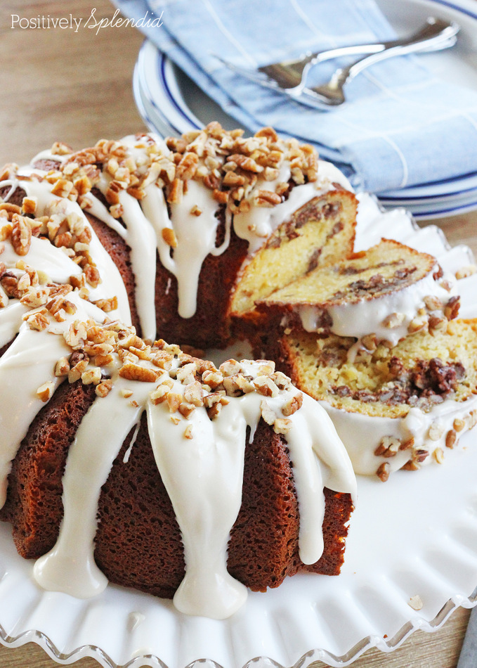 Cinnamon Roll Bundt Cake With Yellow Cake Mix