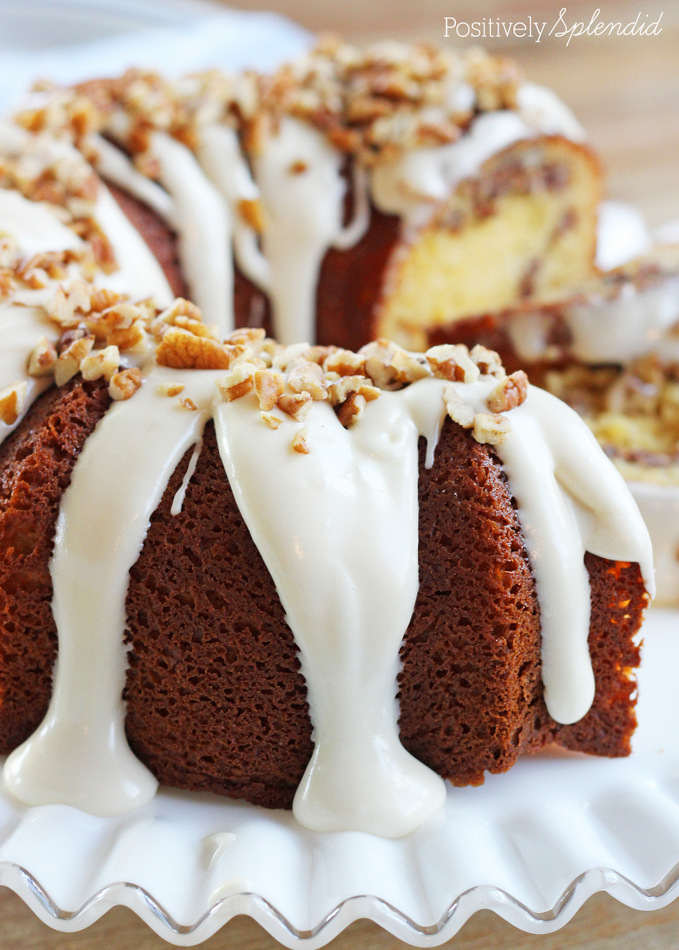 Cinnamon Roll Bundt Cake Recipe with DELICIOUS Cream Cheese Glaze