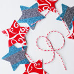 Glittered Star Garland #MakeAmazing