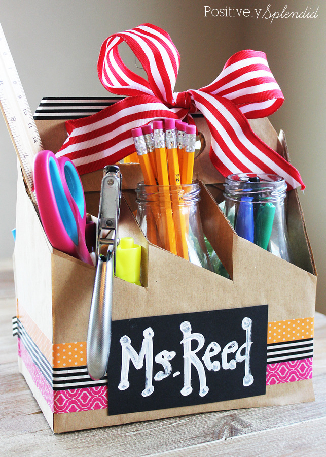 School Supply Gift Tote for Teachers #MakeAmazing