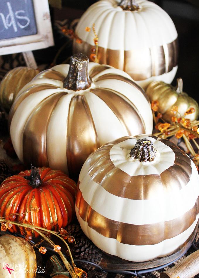 DIY Gilded Pumpkins #MichaelsMakers