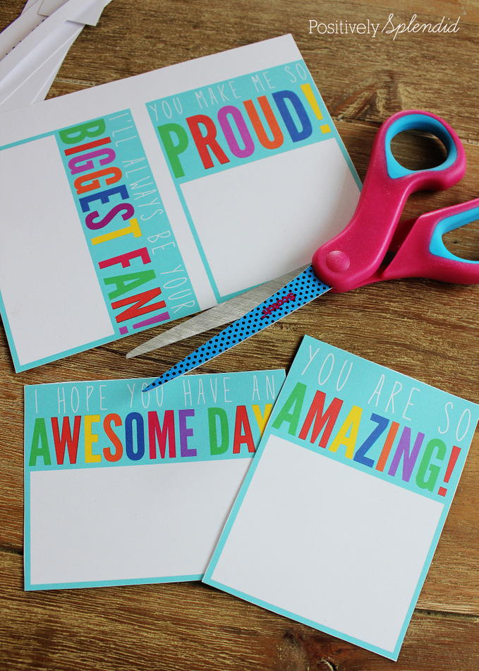 Free printables for lunchbox notes that can be used again and again. Great idea! #MakeAmazing