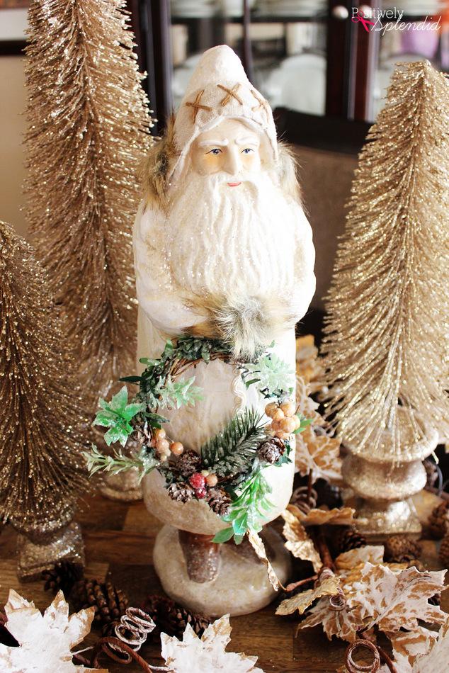 Elegant Christmas Table Centerpiece #AtHomeforChristmas