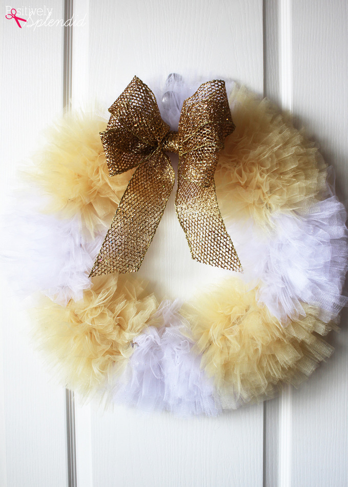How to make a tulle wreath - step by step craft tutorial