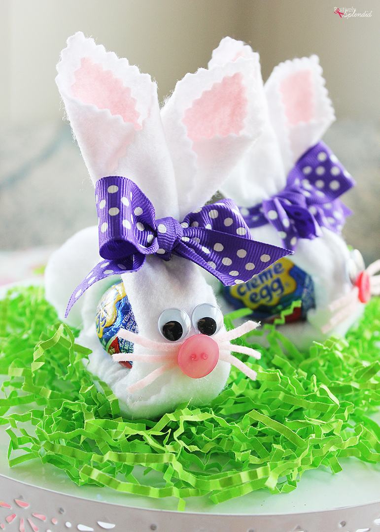 Felt Cadbury Bunny Easter Craft - Perfect for Easter baskets!