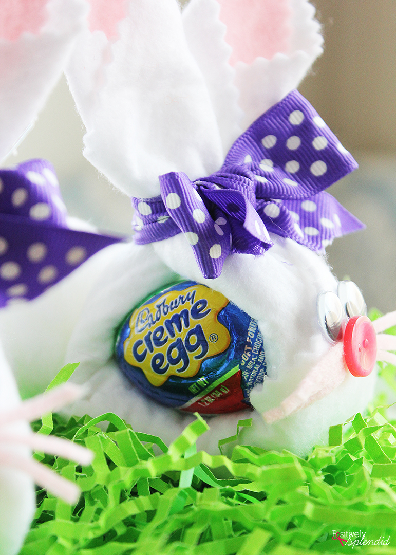 Cadbury Creme Egg Bunny Easter Craft - great for Easter baskets!