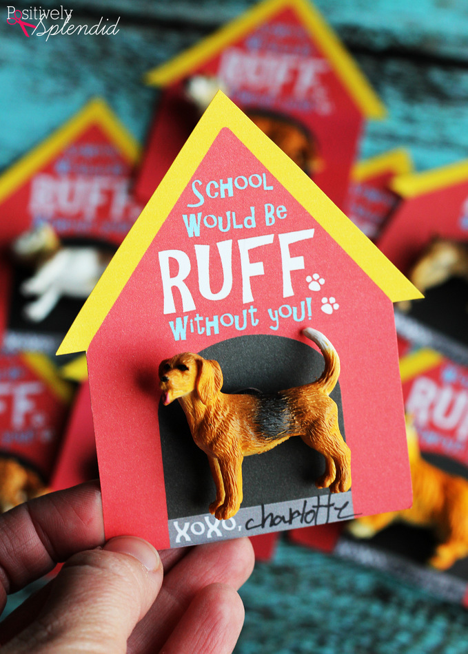 Puppy Doghouse Valentine Cards with Free Printables at Positively Splendid. So adorable!!