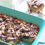 Rocky Road Blondie Bar Cookie Recipe at Positively Splendid - Great for making with kids! #HugTheMess