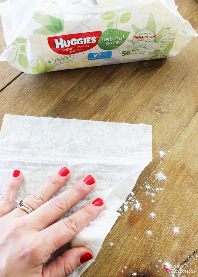 Huggies Wipes are perfect for cleaning up messes as you cook with kids! #HugTheMess