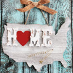 United States String Art Home Sign #MichaelsMakers