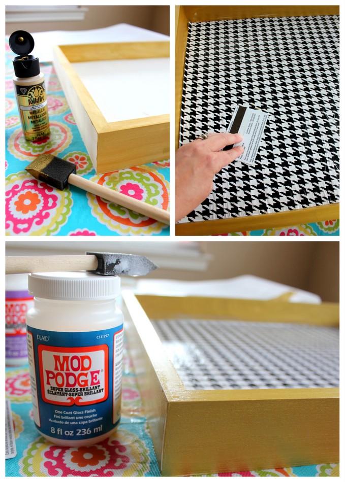 DIY Breakfast Tray - A great gift idea! #MichaelsMakers