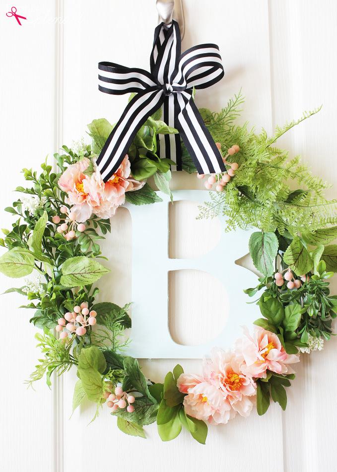 botanical spring wreath - Spring Wreath Ideas
