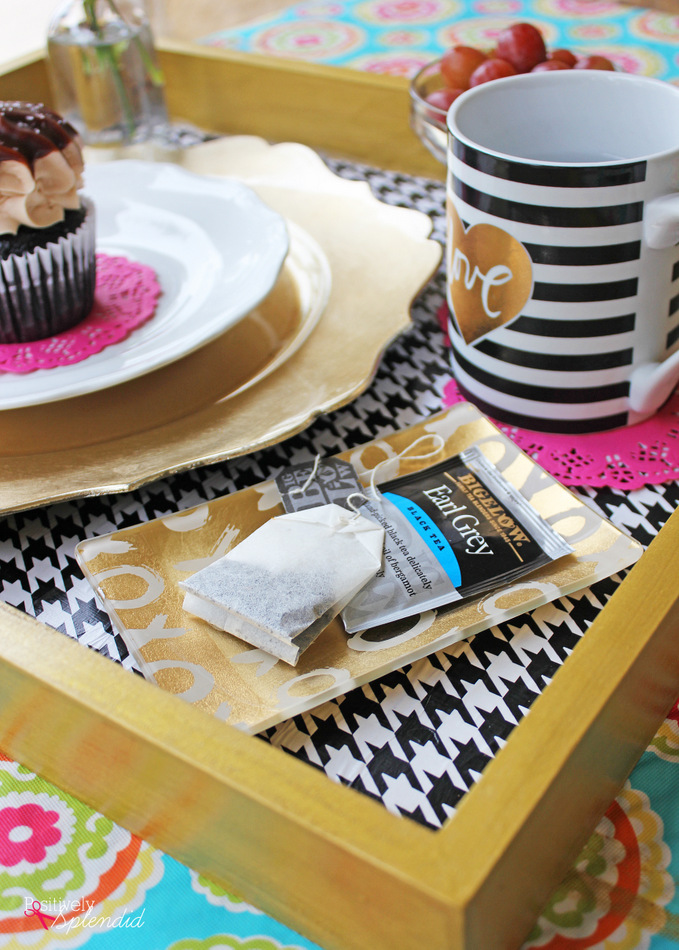 DIY Breakfast Tray - A great gift idea! #MichaelsMakers