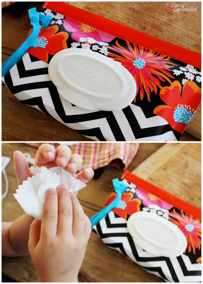 Huggies wipes are great for cleaning up sticky hands as kids help in the kitchen! #HugTheMess