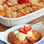 Strawberry dumpling recipe at Positively Splendid. So perfect for spring! #HEBMoms