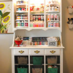 Craft Storage Center from an Old Hutch!