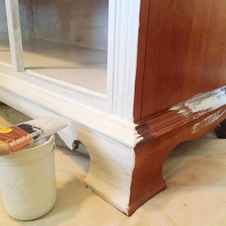 Painting old furniture with chalk paint