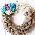DIY Burlap Wreath Tutorial at Positively Splendid