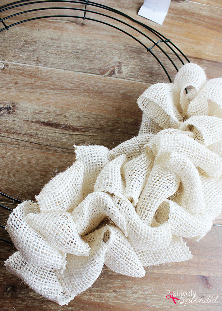 Diy Burlap Wreath Tutorial So Easy And Fun To Make