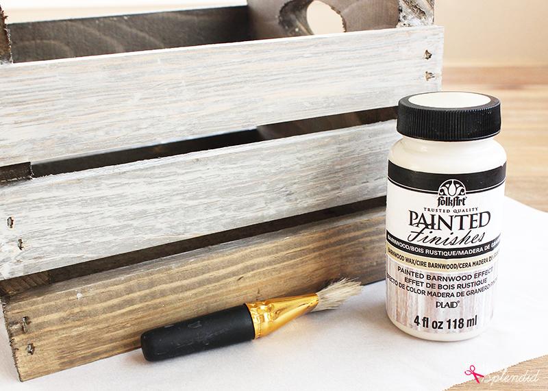 FolkArt Painted Finishes Barnwood Paint and Wax #plaidcreators