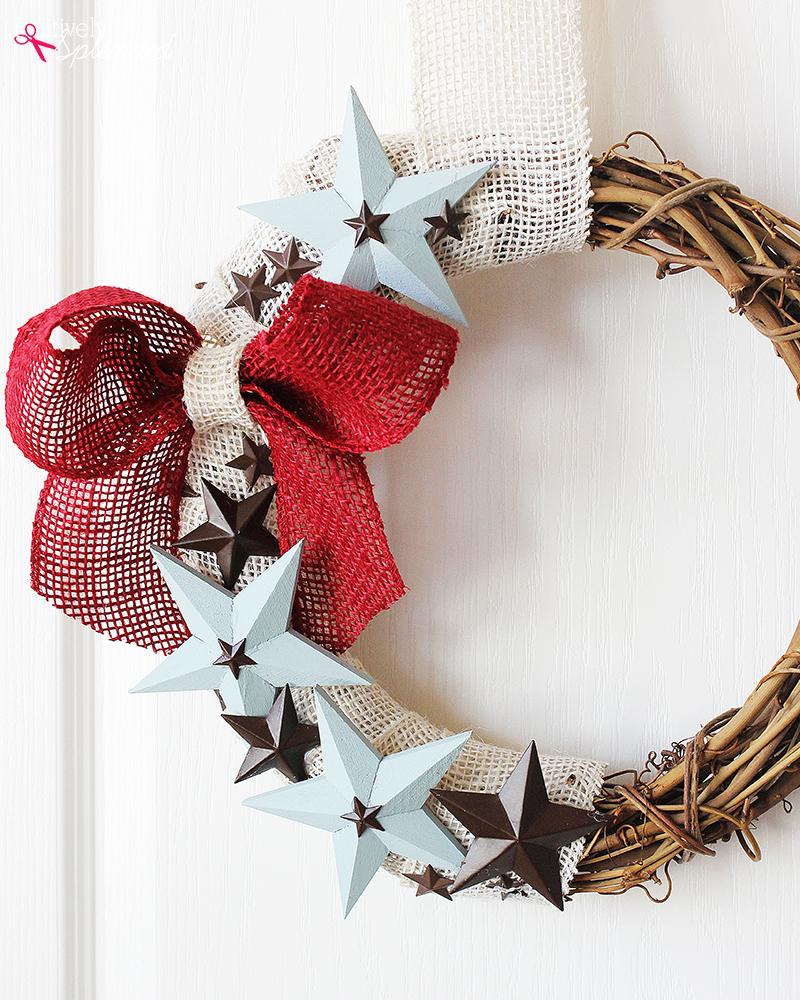 DIY Patriotic Wreath Tutorial by Positively Splendid