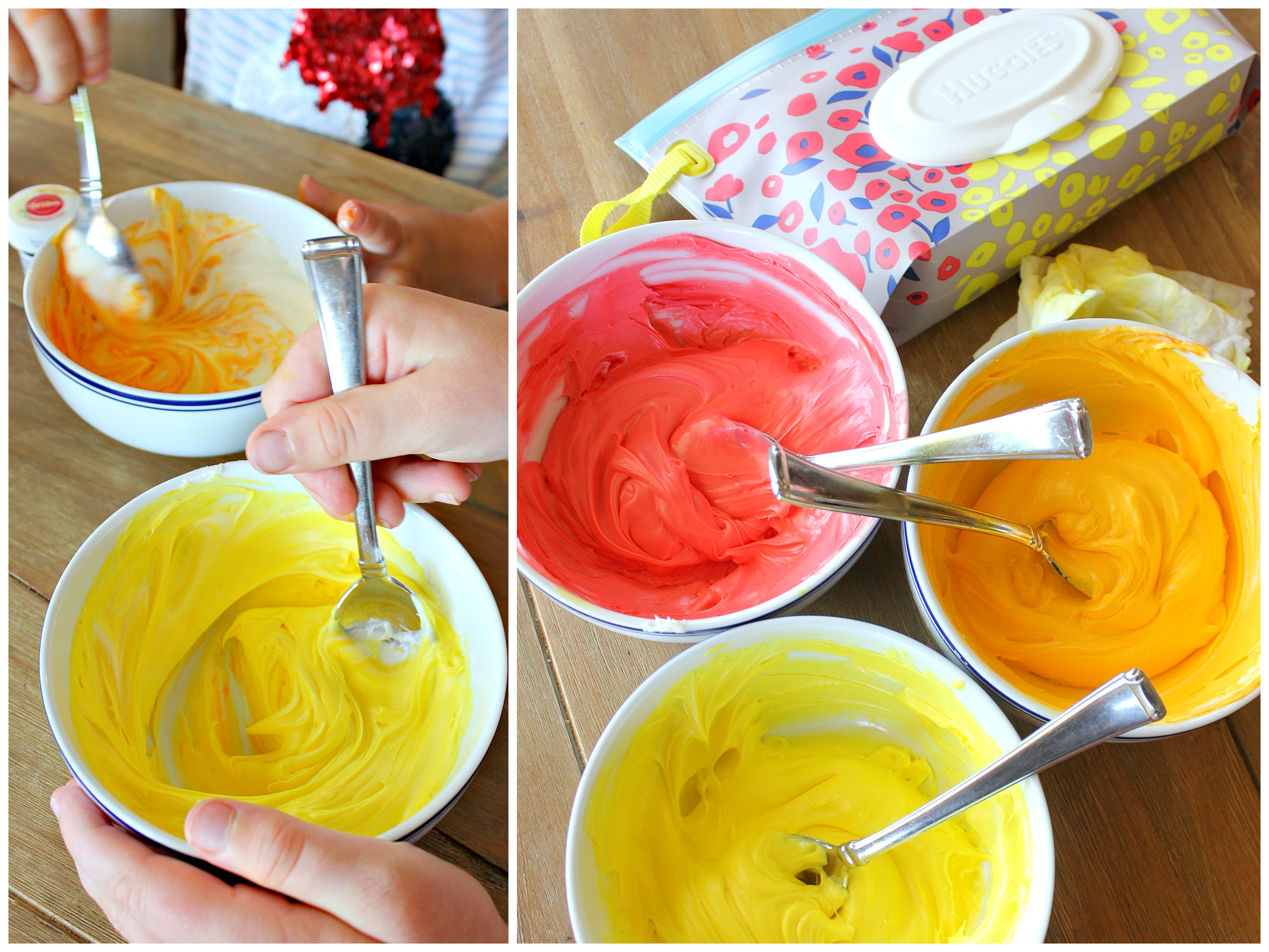 Adorable Olympic torch cupcakes--so fun to make with kids! #HugtheMess