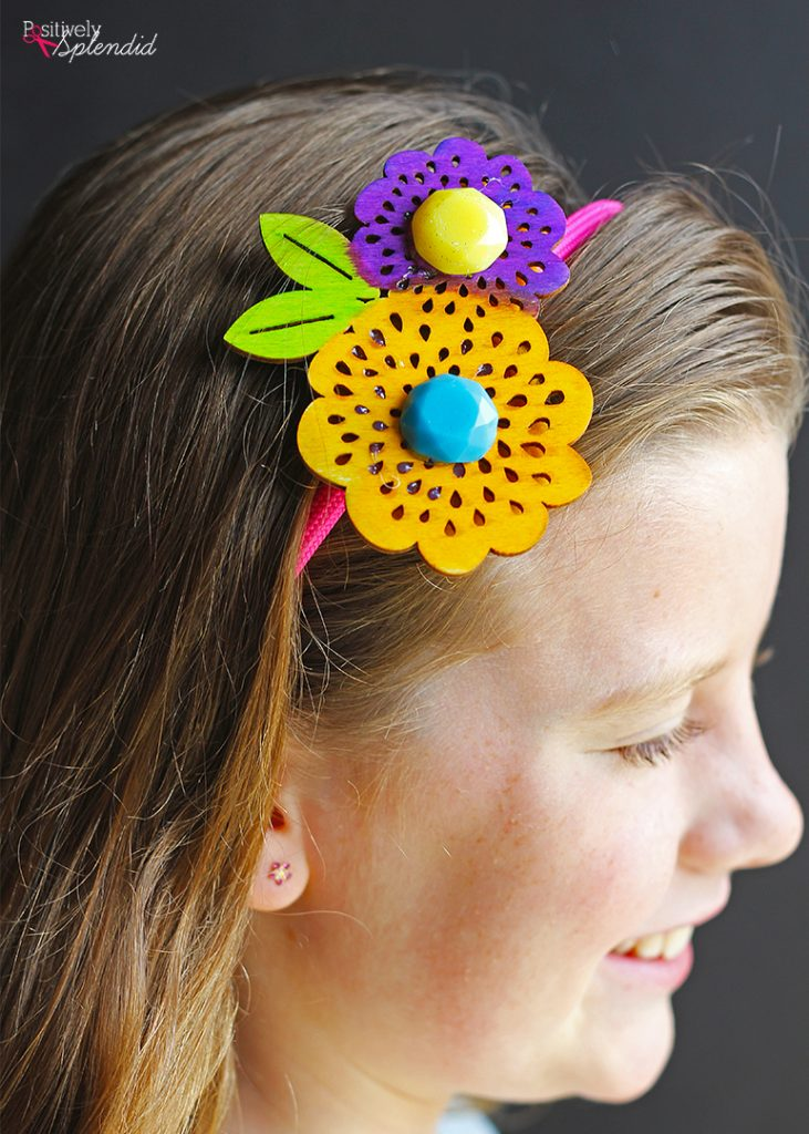 Dyed Wood Headbands made with Plaid Ultra Dye - So perfect and fun for tweens! #PlaidCreators