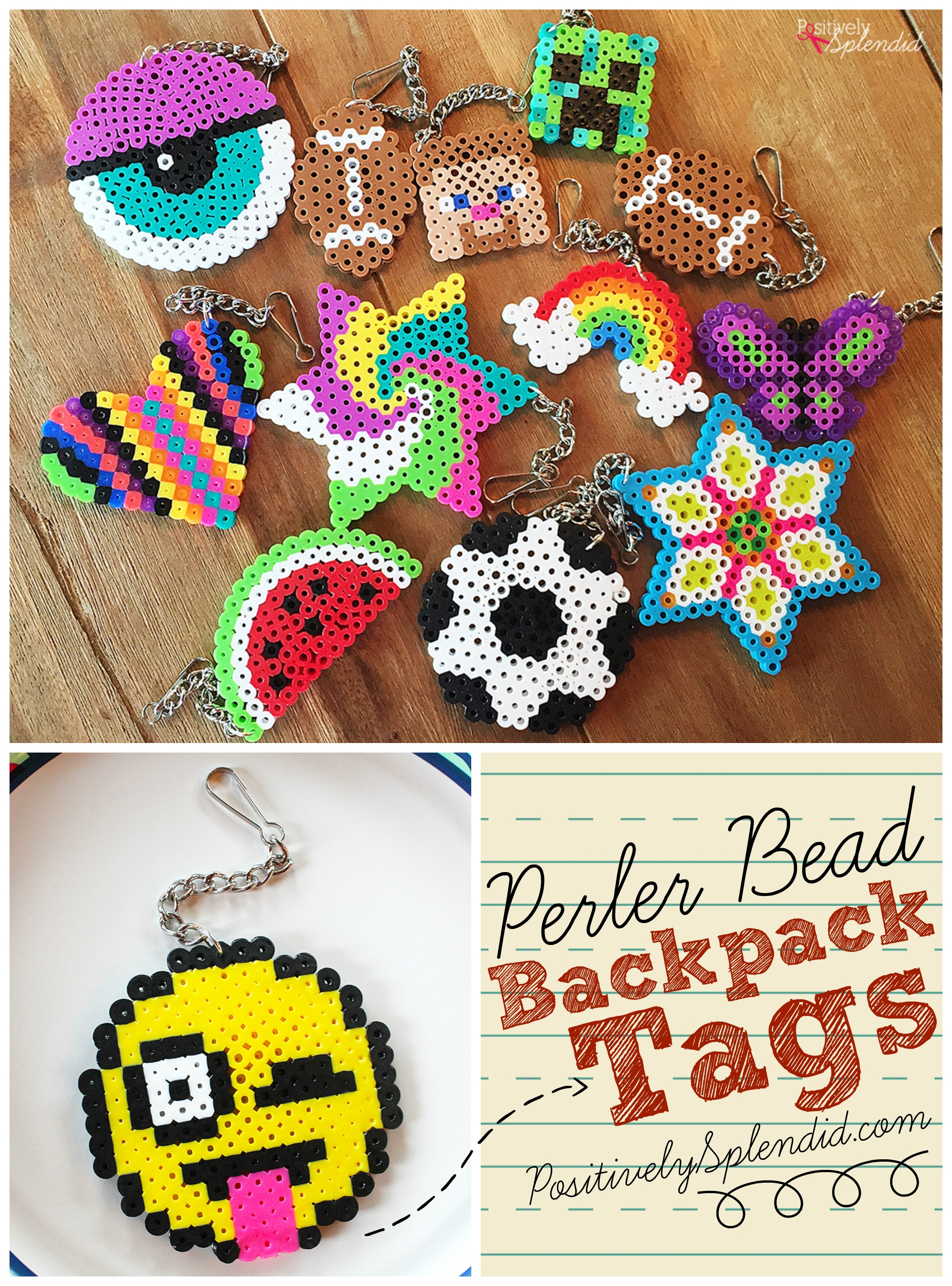 craft ideas beads craft for perler bead backpack tags 1521