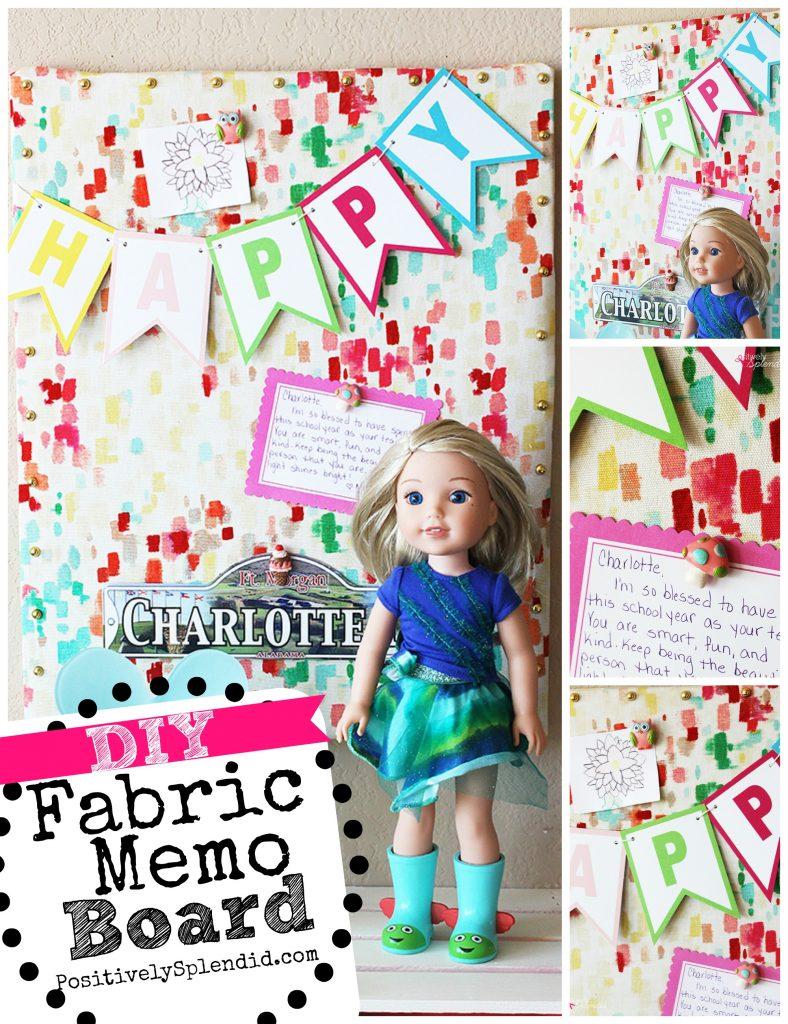 DIY Fabric Memo Board Tutorial at Positively Splendid
