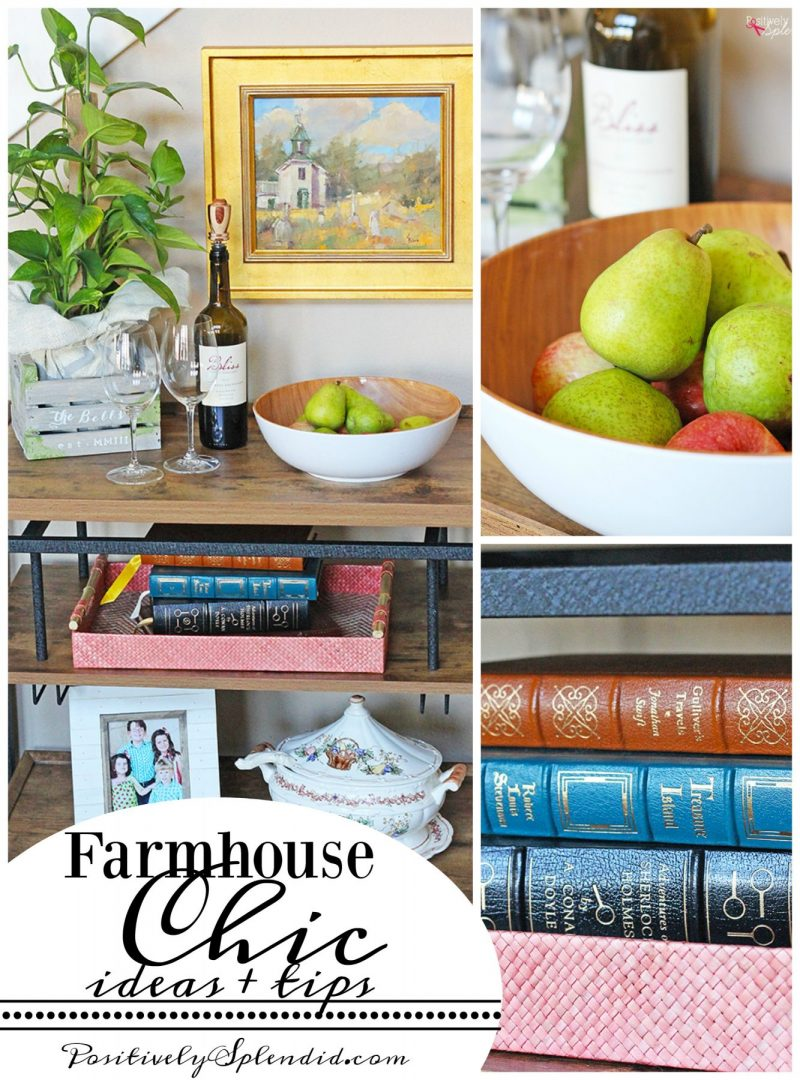 Farmhouse Chic Home Decor Ideas by Positively Splendid #BHGLiveBetter
