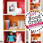DIY Wood Crate Bookshelf #PlaidCreators