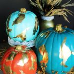 DIY Gold Foil Pumpkins #MichaelsMakers