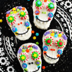 Sugar skull Rice Krispies treats for Day of the Dead. So colorful and clever! #RiceKrispies