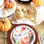 Colorful Fall Tablescape #BHGLiveBetter