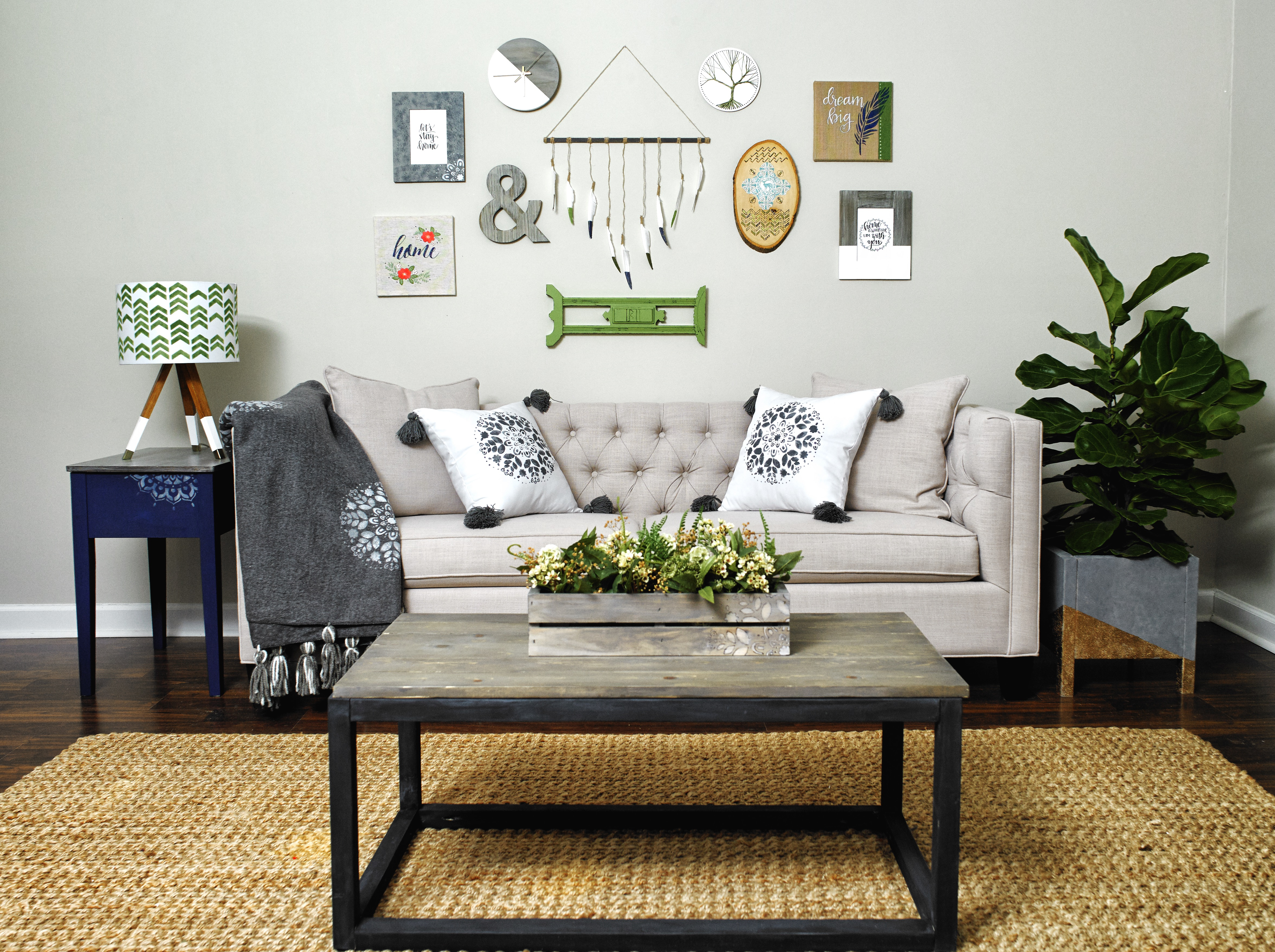 WIN this entire beautiful gallery wall + $500 of crafting supplies from Plaid! #plaidcreators