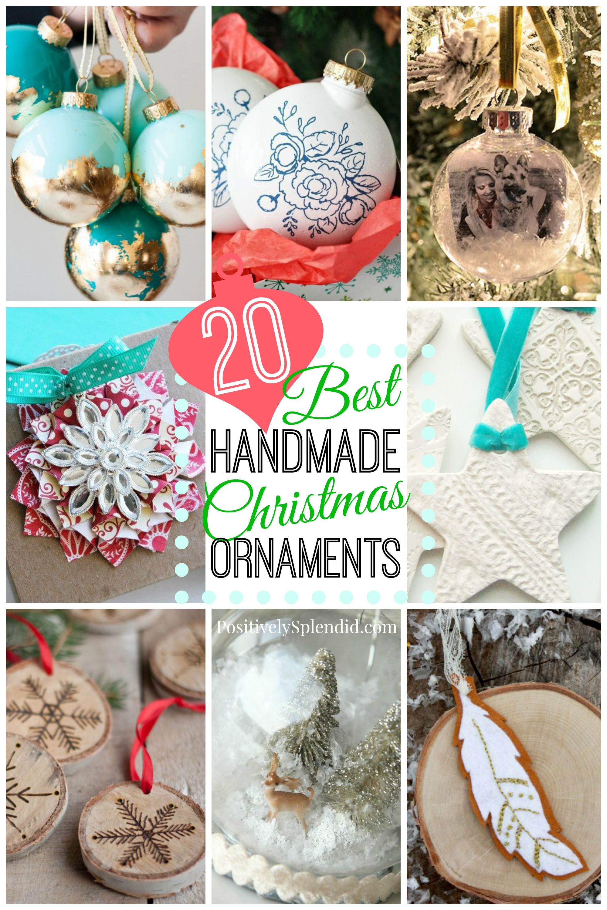 20 of the BEST DIY Christmas Ornaments! So many fabulous ideas!
