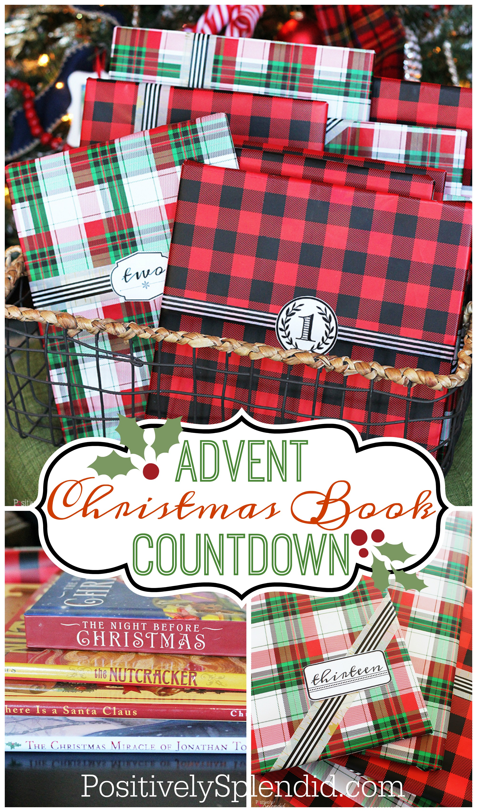 graphic relating to The Legend of the Poinsettia Printable Story known as Xmas Ebook Countdown Thought with Totally free Printable Tags