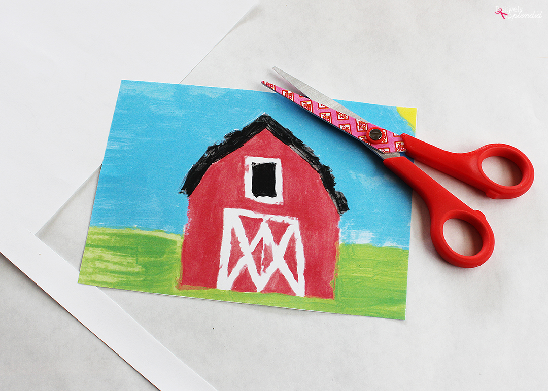 Create a custom photo transfer canvas with your child's artwork using Mod Podge Photo Transfer Medium! So smart! #PlaidCreators