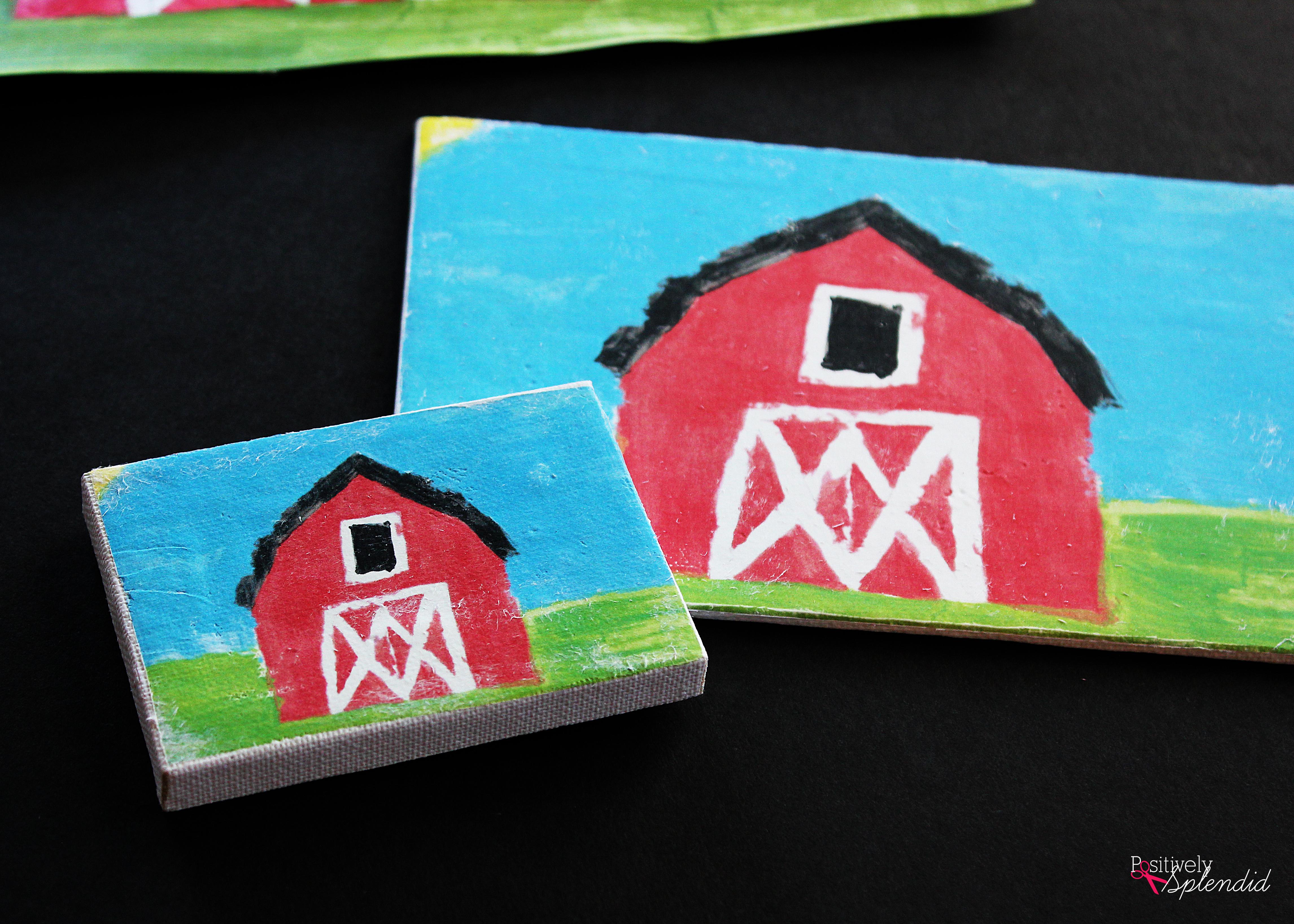Create a custom photo transfer canvas with your child's artwork using Mod Podge Photo Transfer Medium! So smart! #PlaidCreators